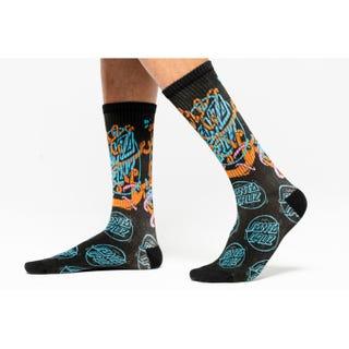 Santa Cruz Ermsy Twisted Hand Socks Black