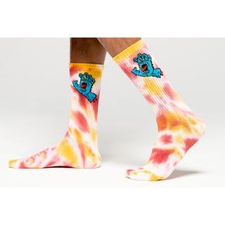 Screaming Hand Tie Dye Socks