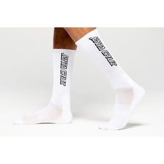 Santa Cruz Classic Strip Socks White