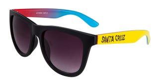 Santa Cruz Fade Hand Sunglasses Black / Yellow.