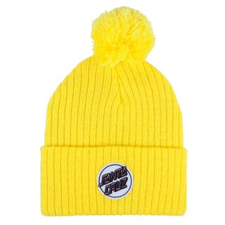 Santa Cruz Headwear for Women - Dot Beanie Citrus Yellow
