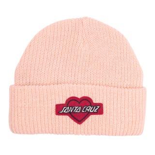 Santa Cruz Heart Strip Beanie Chalk Pink
