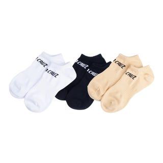 Santa Cruz Strip No Show Socks (3 Pack)