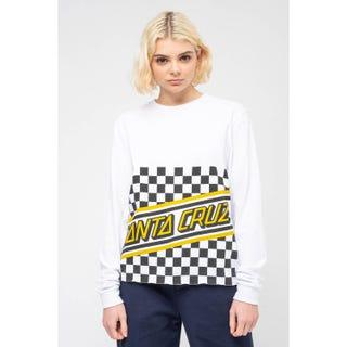 Checker Cut Off L/S T-Shirt