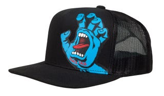 Santa Cruz Screaming Hand Youth Cap Black / Blue Hand Logo.