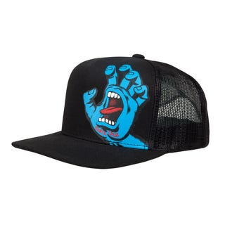 Santa Cruz Screaming Hand Youth Cap Black / Blue Hand Logo.