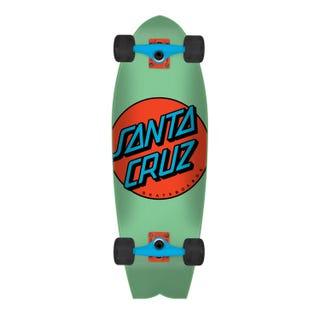 "Santa Cruz Longboards. Other Dot Shark 27.7"" Mint / Orange"
