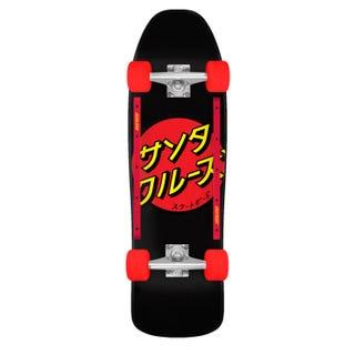 """Santa Cruz Longboards. Japanese Dot 80s Cruzer 31.7"""" Black / Red"""