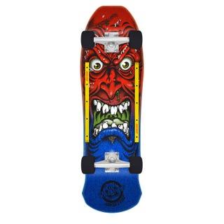 "Santa Cruz Longboards. Roskopp Face 80's Cruzer 31"" Red / Blue"