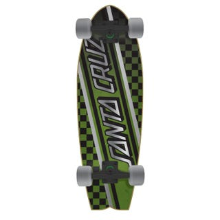 "Santa Cruz Check Strip Cruzer Shark 27.7"" Complete"