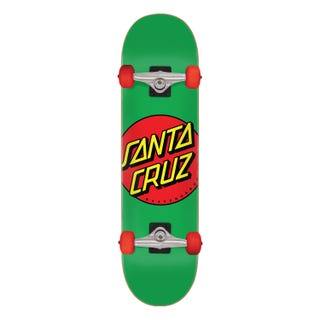 "Santa Cruz Classic Dot 7.8"" Complete Skateboard Green/Multi"