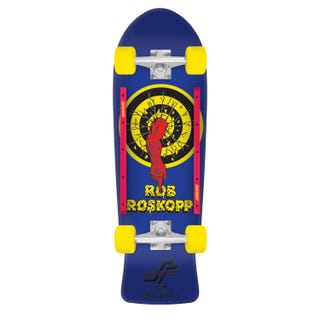 "Santa Cruz Longboards. Roskopp Target 1 80'S Cruzer 31.4"" Blue"