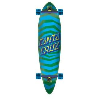 "Santa Cruz Longboards. Illusion Dot Cruzer Pintail 39"" Blue / Green"