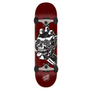 "Santa Cruz Skateboards Completes. Screaming Skull 8.25 "" Burgundy"