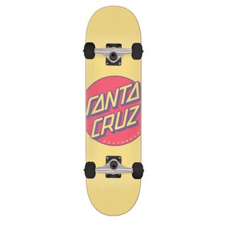"Santa Cruz Skateboards Completes. Other Dot 7.25"" Yellow"
