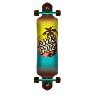 "Santa Cruz Complete Longboards. Palm Dot 9.2"" Purple"
