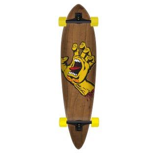 "Santa Cruz Screaming Hand Pintail Skateboard 9.58"" Brown/Yellow"