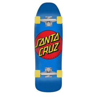 """Santa Cruz Complete Longboards. Classic Dot 80'S Cruzer 9.35"""" Blue"""