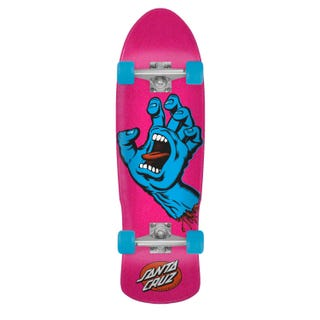 "Santa Cruz Screaming Hand 80s Cruzer 9.42"" Pink/Blue"