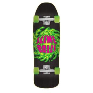 """Santa Cruz Longboards.  Slimeballs Logo 80'S Cruzer 9.35"""" Black / Green"""