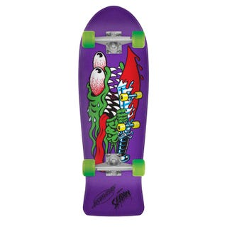 "Santa Cruz Longboards. Slasher Mini 80'S Cruzer 8.7"" Purple"