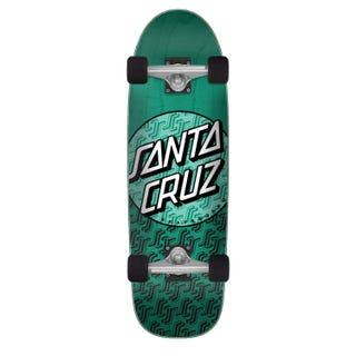 "Santa Cruz SC Repeat Complete 80s Skateboard 29.05"" Green"