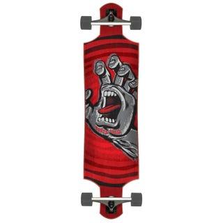 "Santa Cruz Off Hand 40"" Drop Down Complete Skateboard Red"