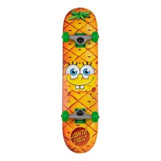 """SBSPxSC SpongeBob Pineapple Face Skateboard Complete 7.25"""""""
