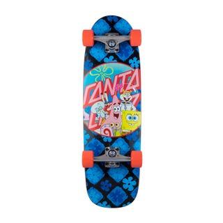 "Santa Cruz SpongeBob Supergroup Skateboard Complete 8.79"" Blue"