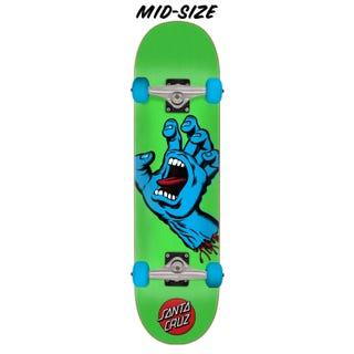 "Santa Cruz Screaming Hand Skateboard Complete 7.5"" Green"