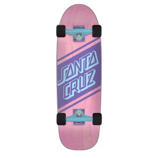 Santa Cruz Street Skate Cruzer Complete Skateboard Pink/Blue