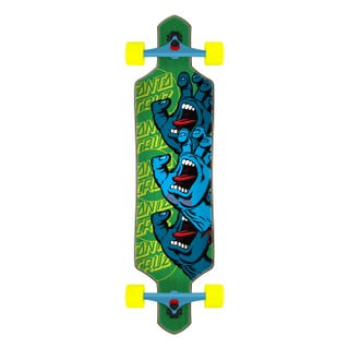 "Santa Cruz Screaming Hand Stack Drop Thru 36"" Skateboard Complete"