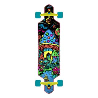 "Santa Cruz Time Warp drop thru 36"" skateboard complete multi"
