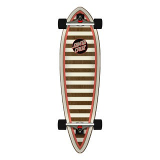 "Santa Cruz Gold Stripe Pintail 33"" Skateboard Complete"