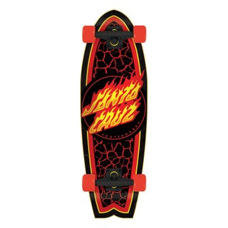 "Santa Cruz Flame Dot Shark 27.7"" Complete"