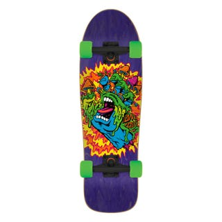 "Santa Cruz Toxic Hand 31.7"" Skateboard Compete Purple"