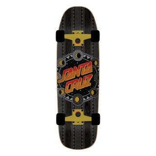 """Santa Cruz Phase Dot 32.26"""" Skateboard Complete Black"""