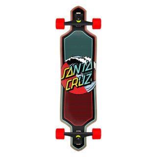 "Santa Cruz Wave Dot Splice 36"" Longboard Cruzer Red / Blue"