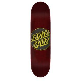 "Santa Cruz Skateboard Decks. Classic Dot Taper Tip 8"" Red"