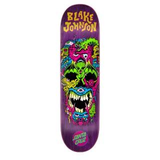 "Santa Cruz Skateboard Decks - Johnson Rad Skull 8.38"" Multi"