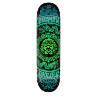 "Santa Cruz Skateboards - Guzman Rad Temple 8.27"" Deck Blue"
