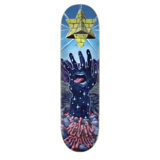 "Santa Cruz Braun Pyramid Hand Skateboard Deck 8.25"" Blue"