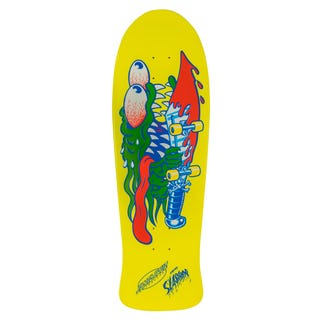 "Santa Cruz Skateboard Decks - Slasher 10.1"" Yellow"