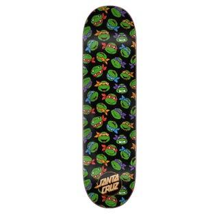 """Teenage Mutant Ninja Turtles Skateboard Deck - Allover Black 8.25"""""""