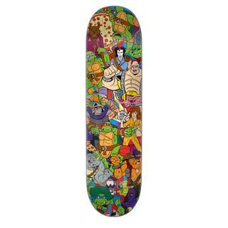 Teenage Mutant Ninja Turtles Skateboard Deck - Crew Everslick Multi