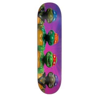 """Teenage Mutant Ninja Turtles Skateboard Deck - Figures Purple 8"""""""