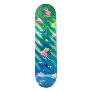 "Santa Cruz EU SpongeBob Bikini Bottom Skate Deck 8.25"" Blue"