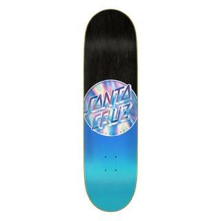 "Santa Cruz Iridescent Dot 8.5"" Blue Skateboard Deck"
