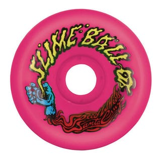 Santa Cruz Slime Balls Vomit Mini 97a 60mm Skate Wheels - Neon Pink