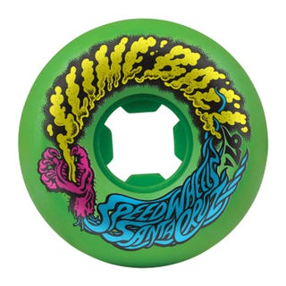 Santa Cruz Slime Balls Vomit Mini 97a 56mm Skate Wheels - Neon Green